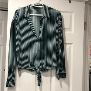 Green lined blouse